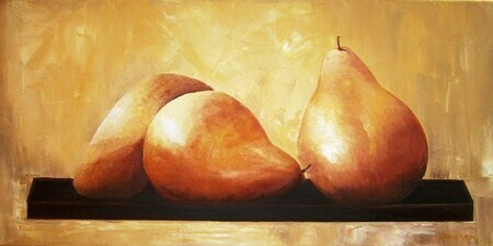 Three Pears On A Tray